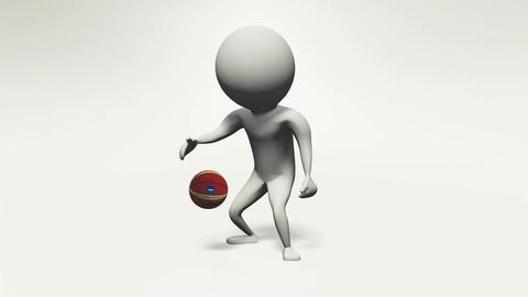 [alt video] 3D animation basket ball man