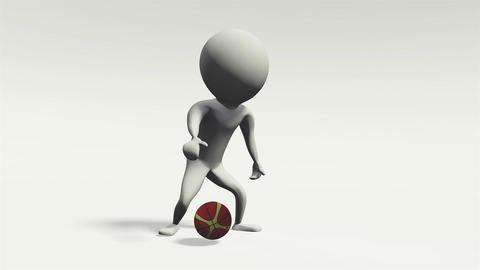 3D animation basket ball man Videos animados
