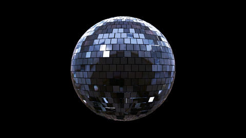 Disco Ball shimmering and rotating loop Alpha Animation