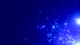 Blue star fields emitting light Footage
