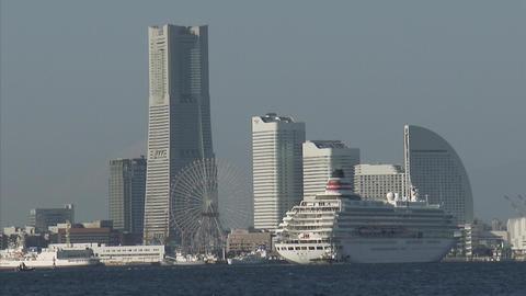 飛鳥II 横浜入港 10 Footage