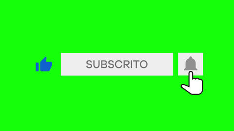 Mouse Clicking a Like Button, Subscribe Button and Bell Notification with chroma key green Animation