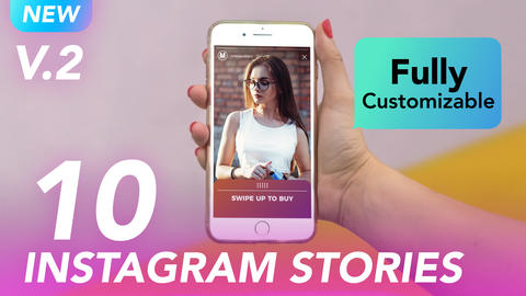 Instagram Swipe Up Stories Motion Graphics Template