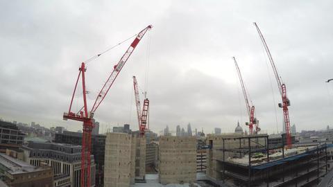London City construction site overview timelapse 4K Live Action