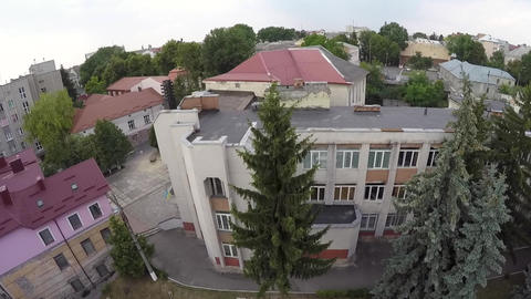 Aerial view of Ternopil children's puppet theatre Live Action