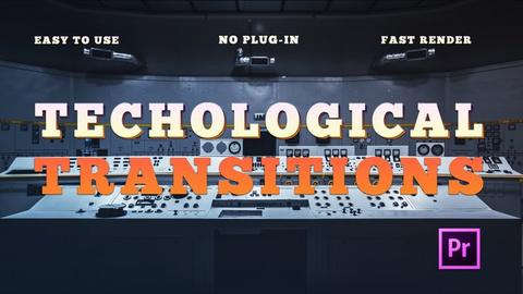 Technological Transitions Premiere Pro Template