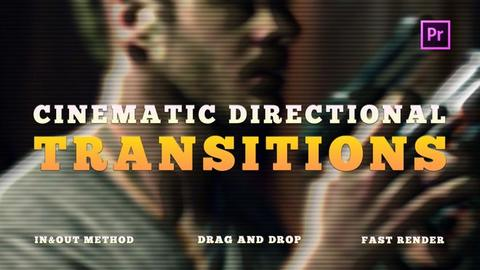 Cinematic Directional Transitions Premiere Pro Template