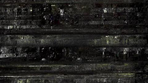 Ascend Glitch. Computer Screen Error. No Signal Animation