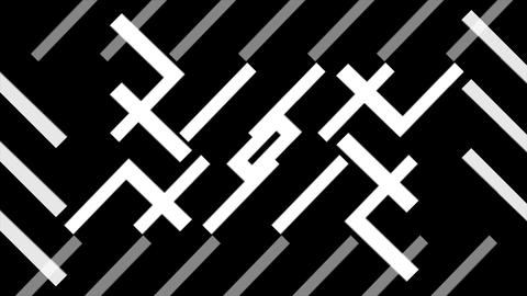 Abstract Black and White VJ Animation Stock Video Footage