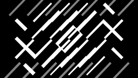 Abstract Black and White VJ Animation Animation