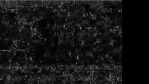 Canvas Noise On TV Screen. Analog TV Signal With Bad Interferenc Animation