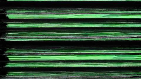 Compact Glitch. Computer Screen Error. No Signal Animation
