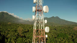 Telecommunication tower, communication antenna in asia Footage