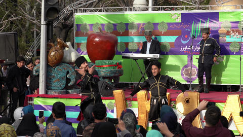 Tehran, Iran - 2019-04-03 - Street Fair Entertainment 2 - Traditional Iranian Footage