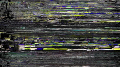 Legendary Glitch TV Static Noise Distorted Signal Problems Animation