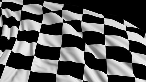 Checkered flag in motion Animation