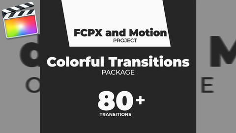 Colorful Transitions Pack for FCPX Apple Motion Template
