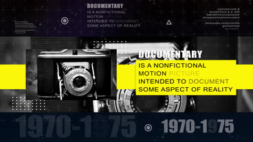 4K DocumentaryHistory Intro Opener After Effects Template