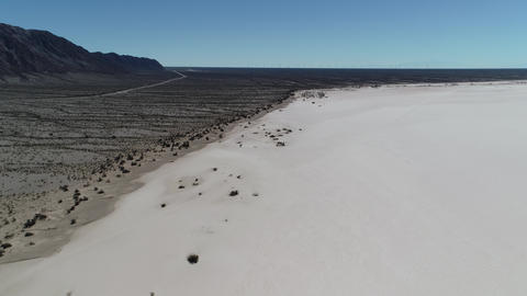 Aerial drone scene of arid dry barreal desert in aimogasta, la rioja, argentina. Camera moving Footage