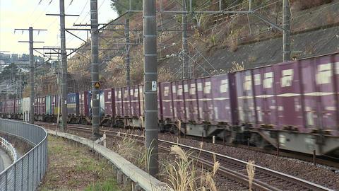 東海道本線 貨物 01 Footage