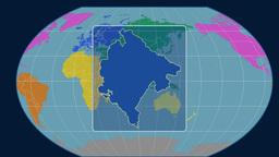 Montenegro (Kavrayskiy VII). Continents Animation