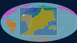 Morocco (Mollweide). Continents Animation