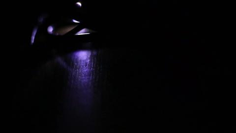 Data transfer light at night Stock Video Footage