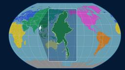 Myanmar (Kavrayskiy VII). Continents Animation