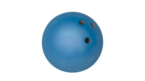 Blue bowling ball Animation