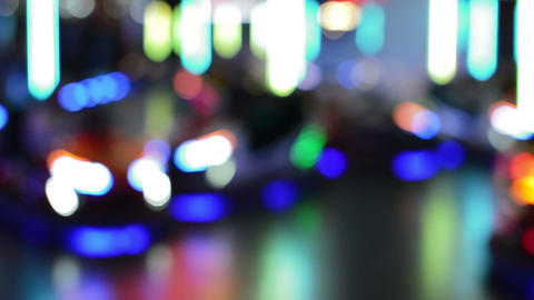 Defocused Bokeh Lights And Lens Flare, Abstract Light Background Live Action