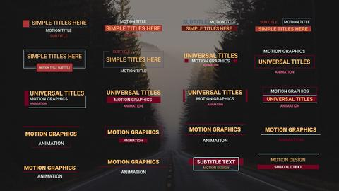 Animation Lower Thirds After Effects Template