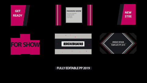 Fashion titles Motion Graphics Template