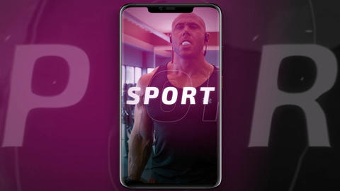 Short vertical sport opener After Effects Template