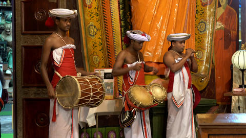 Colombo, Sri Lanka - 2019-03-21 - Temple Band Plays with Two Drums and One Footage