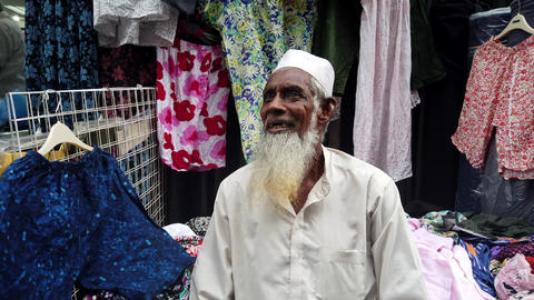 Colombo, Sri Lanka - 2019-03-21 - Man With Long White Beard Talks Footage