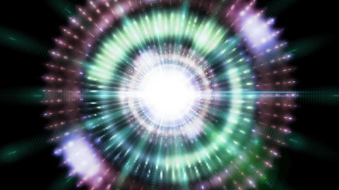 Pulsar 018: A graphic pulsar star radiates light and energy Animation