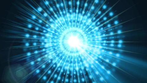 Pulsar 015: A graphic pulsar star radiates light and energy Animation