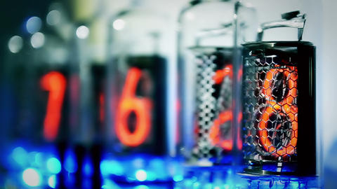 Nixie Clock Stock Video Footage