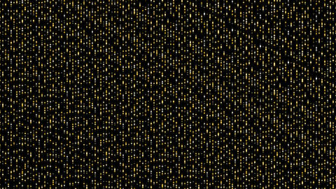 Abstract particle 3D virtual isometric square lighting moving, Technology network digital data Animation