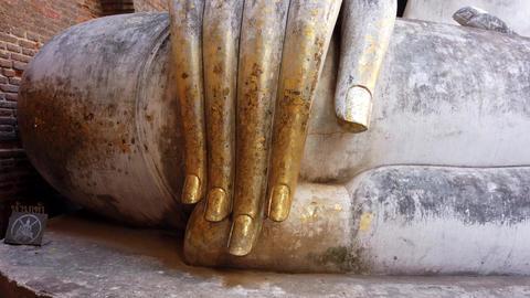 Vertical Pan Up Huge Buddha Statue Footage