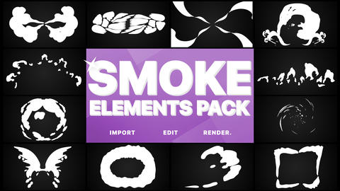 Smoke Elements Pack Premiere Pro Template