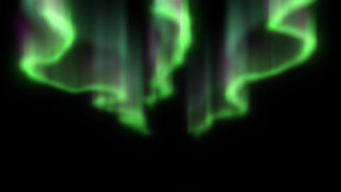 Northern Lights on black background Animation