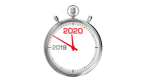 New Year 2020 Stopwatch (with Matte) Animation