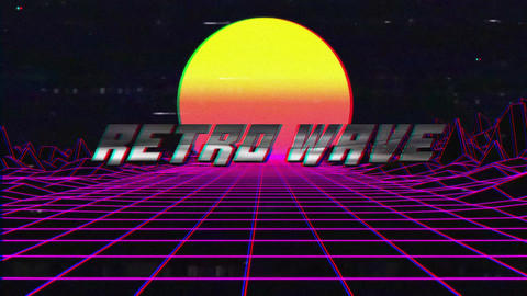 Retro Wave Title After Effects Template