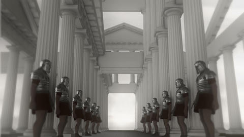 Roman Legion Soldiers Standing in a Palace Footage