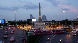 TIMELAPSE Victory monument roundabout traffic ,Bangkok,Thailand Footage