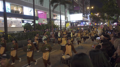 Parade in Hong Kong during the Chinese New Year Footage