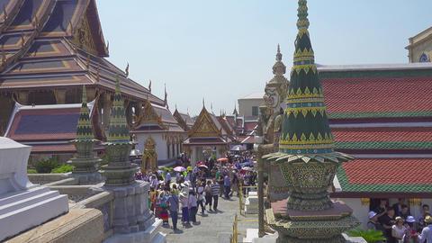 Tourists near Wat Phra Kaew, Grand Palace Footage