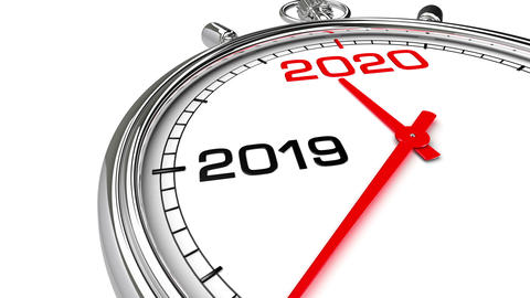 New Year 2020 Clock (with Matte) Animation