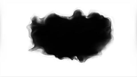 Grey Black ink spreading on white background transition Animation